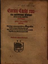 Euricij Cordi contra maledicum Thilonivm Philymnvm Defensio