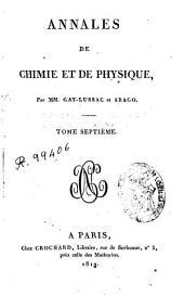Annales de chimie et de physique: Volume7