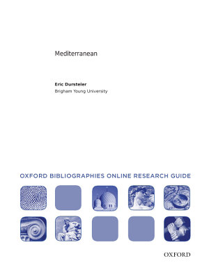 Mediterranean  Oxford Bibliographies Online Research Guide PDF
