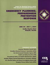 Emergency Planning: Preparedness, Prevention and Response