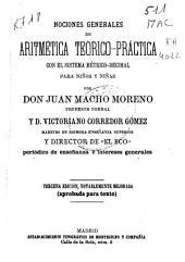 Nociones generales de aritmetica teorico-practica con el sistema metrico-decimal para niños y niñas