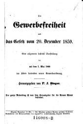 Die Gewerbefreiheit und das Gesetz vom 20. Dezember 1859