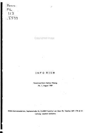 Info RISM PDF