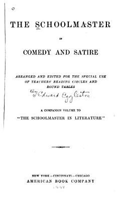 The Schoolmaster in Comedy and Satire PDF