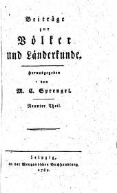 Beiträge zur Völker- und Länderkunde: Band 9