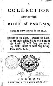 An essay on psalmody [signed W.R. Followed by] A collection out of the Book of psalms [in verse].