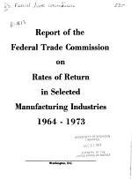 Report on Rates of Return, After Taxes, for ...
