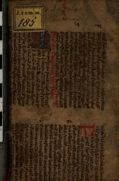 Synopsis locorum legalium