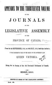 Journals of the Legislative Assembly of the Province of Canada: From the 14th Day of June .. Being the First-8th Provincial Parliament ..., Volume 13, Issue 8