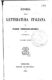 Storia della letteratura italiana, 1-2
