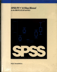 SPSS PC  4 0 Base Manual for the IBM PC XT AT and PS 2 PDF
