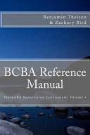 BCBA Reference Manual
