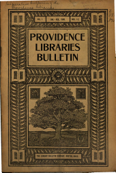 Coöperative Bulletin of the Providence Libraries ...: Issued Monthly, Volume 1, Issues 1-2
