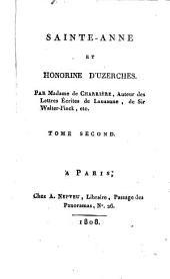 Sainte-Anne [les ruines de Yedburg], et Honorine d'Uzerches: Volume2