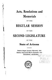 Arizona Session Laws