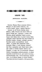 Leoni XII: Pontifici maximo