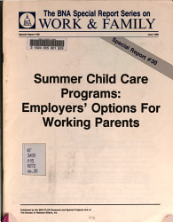 Summer Child Care Programs Book PDF