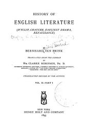 History of English Literature: Volume 2, Issue 1