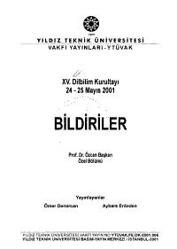 On be  inci Dilbilim Kurultay   PDF