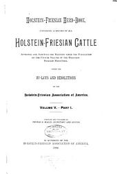 Holstein-Friesian Herd-book: Volume 5