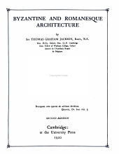 Byzantine and Romanesque architecture: Volume 1