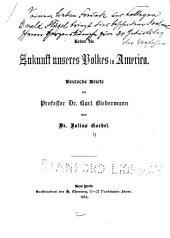 Ueber die Zukunft unseres Volkes in America: deutsche Briefe an Professor Dr. Karl Biedermann
