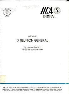 Informe IX Reunion General PDF