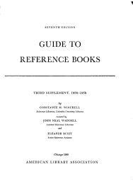 Guide To Reference Books