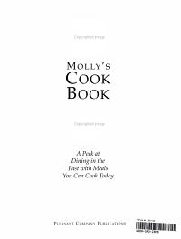 Molly s Cookbook Book
