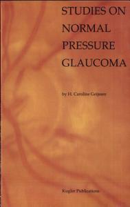 Studies on Normal Pressure Glaucoma Book