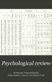 The Psychological Review: Volume 5