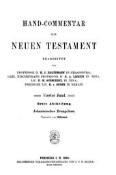 Hand-commentar zum Neuen Testament bearb