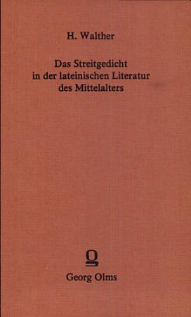 Das Streitgedicht in der lateinischen Literatur des Mittelalters PDF
