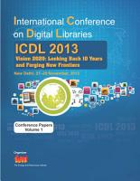 International Conference on Digital Libraries  ICDL  2013 PDF