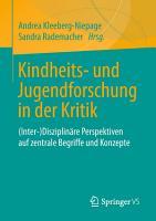 Kindheits  und Jugendforschung in der Kritik PDF