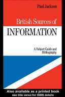 British Sources of Information PDF