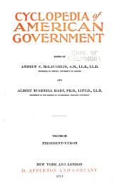 Cyclopedia of American Government: Volume 3