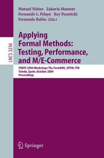 Applying Formal Methods  Testing  Performance  and M E Commerce PDF