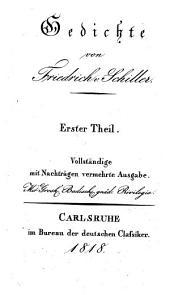 Sämmtliche Werke: Schillers Gedichte I.