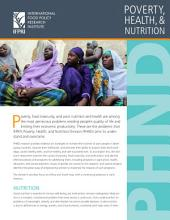PHND: Poverty, health and nutrition