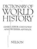 Download Dictionary of World History Book