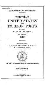 Tide Tables, [United States and Foreign Ports]