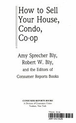 How To Sell Your House Condo Co Op Book PDF