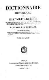 Dictionnaire historique, ou, Histoire abrégée: Volume2