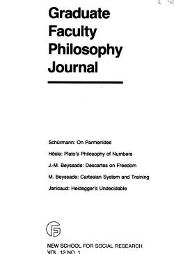 Graduate Faculty Philosophy Journal PDF