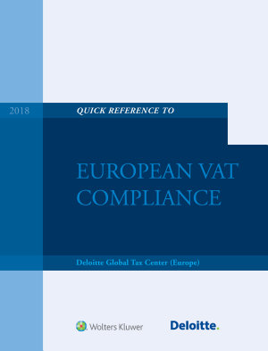 Quick Reference Guide to European VAT Compliance