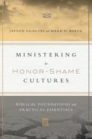 Ministering in Honor Shame Cultures PDF