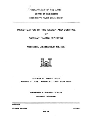 Investigation of the Design and Control of Asphalt Paving Mixtures  Appendices D E PDF