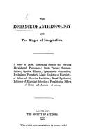 The Romance of Anthropology and the Magic of Imagination  A Series of Tales  Etc PDF