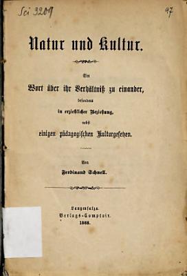 Natur und Kultur PDF